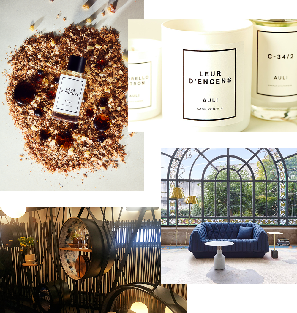image of AULI London collaboration for room scent collaboration
